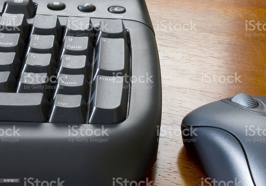 Keyboard and Mouse royalty-free stock photo