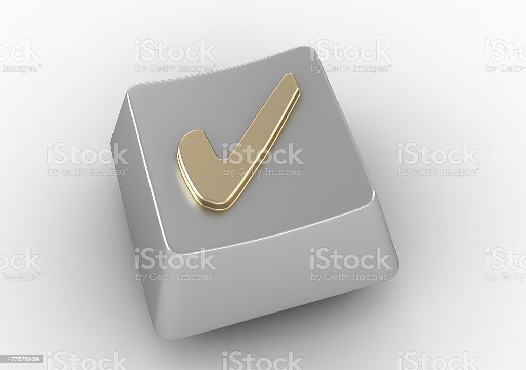 Keyboard Button With Check Mark Sign Stock Photo More Pictures Of