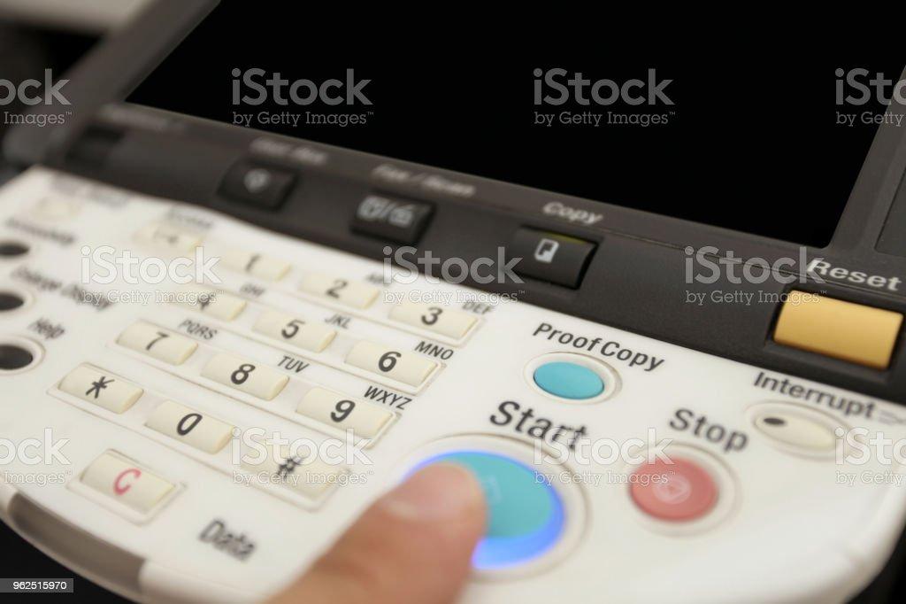 Botões do teclado da copiadora laser - Foto de stock de Aparelho de fax royalty-free
