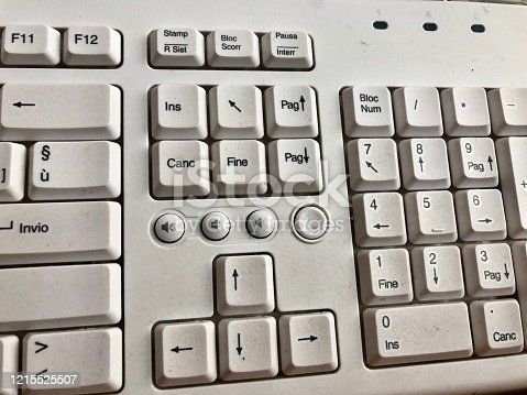 Keyboard characters range from alphabets and numerics , this is half view of keyboard showing office setup