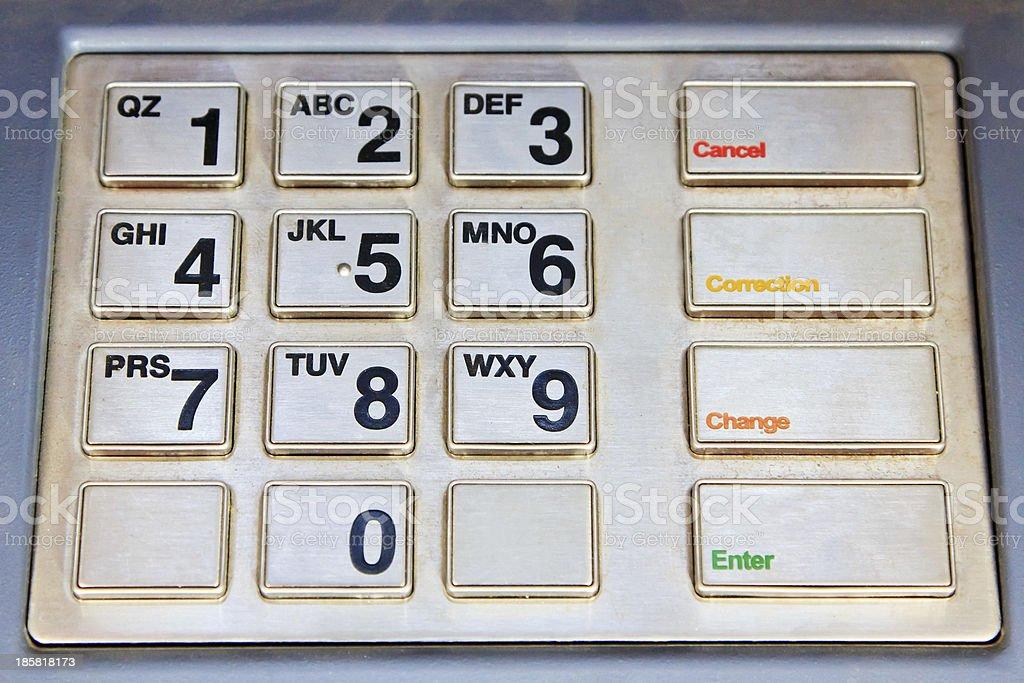 ATM keyboard close up royalty-free stock photo