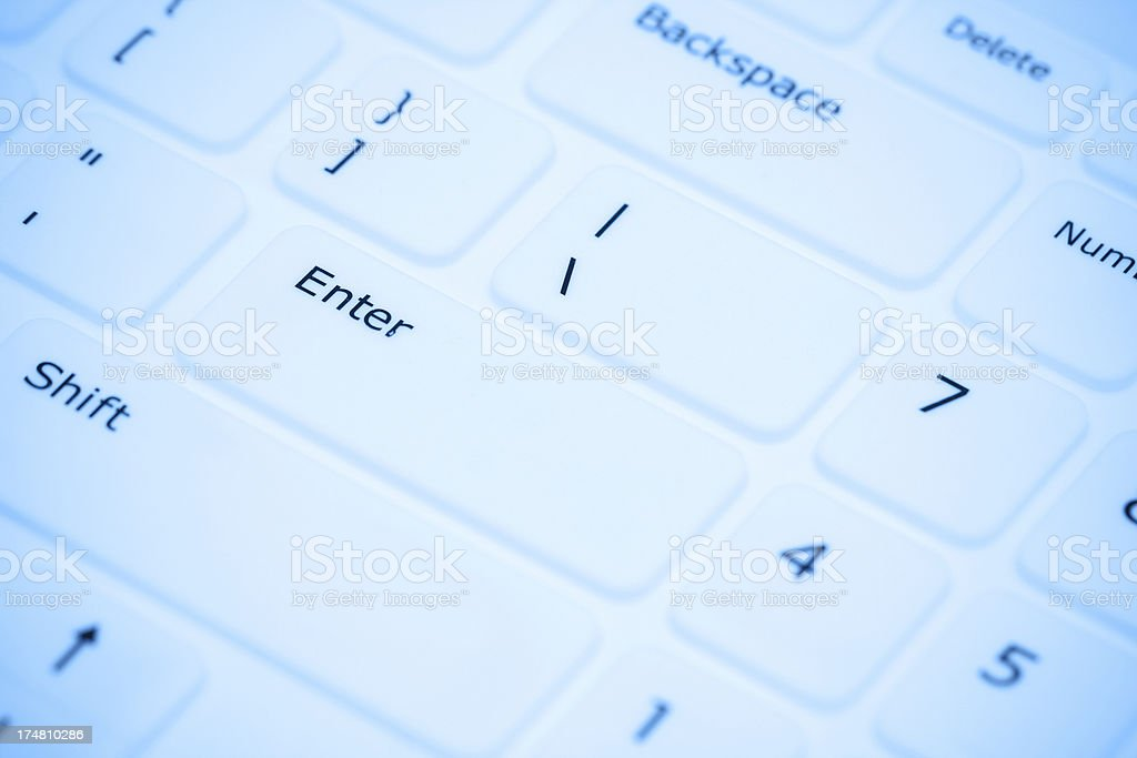 Keyboard close-up royalty-free stock photo