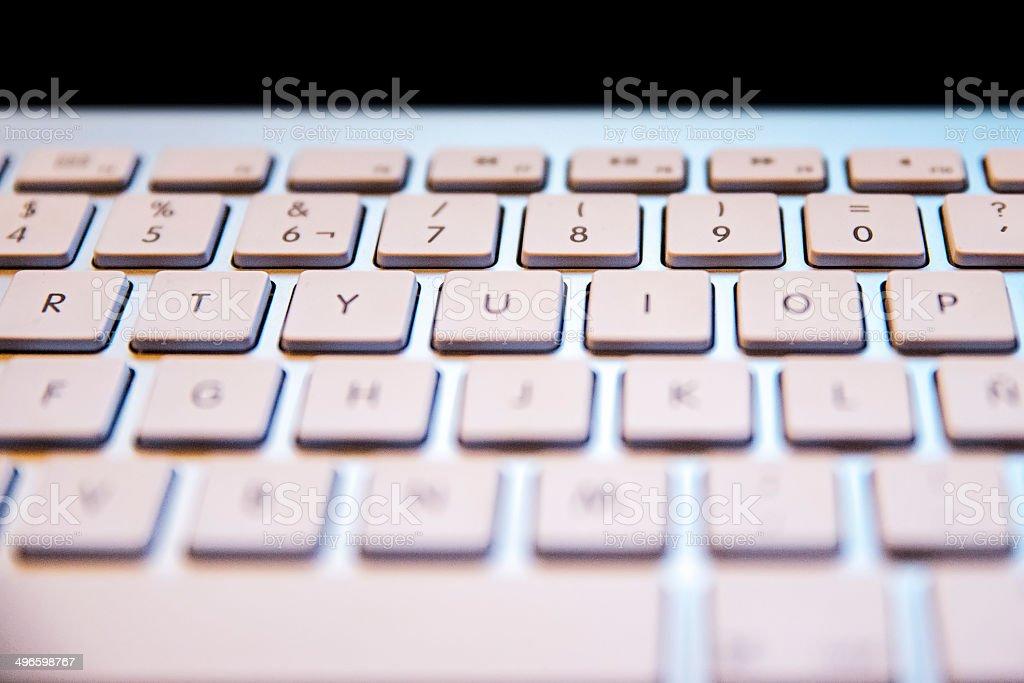 keyboard closeup stock photo