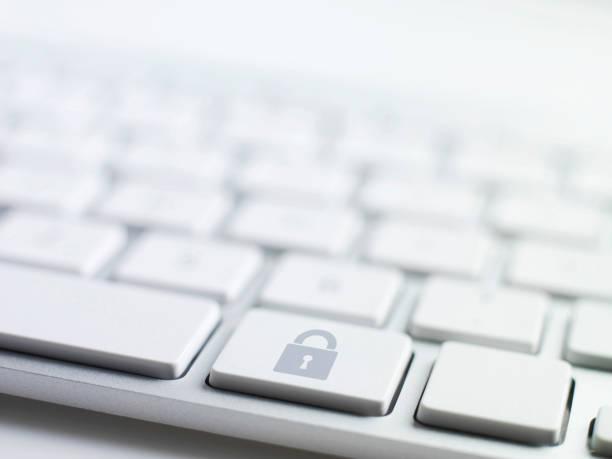 teclado conceitos, trava - computador cadeado - fotografias e filmes do acervo