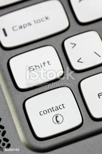 istock Keyboard - contact 186593163