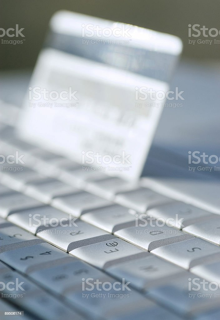 Tastatur Kreditkarte Lizenzfreies stock-foto
