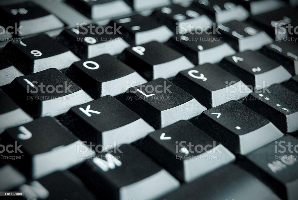 Keyboard detail stock photo