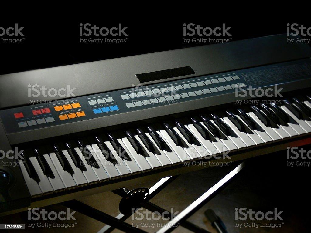 Keyboard in Dark Room stock photo