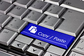 Keyboard key blue - Copy / Paste