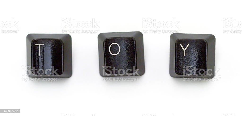 Keyboard keys - TOY royalty-free stock photo