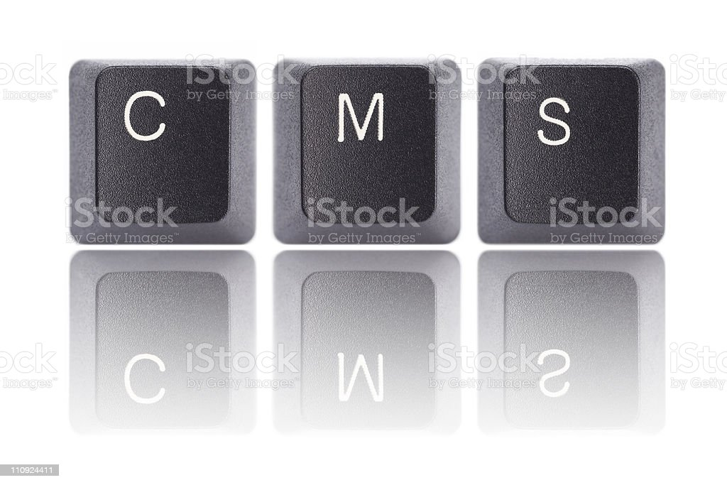 Keyboard Letters : CMS royalty-free stock photo