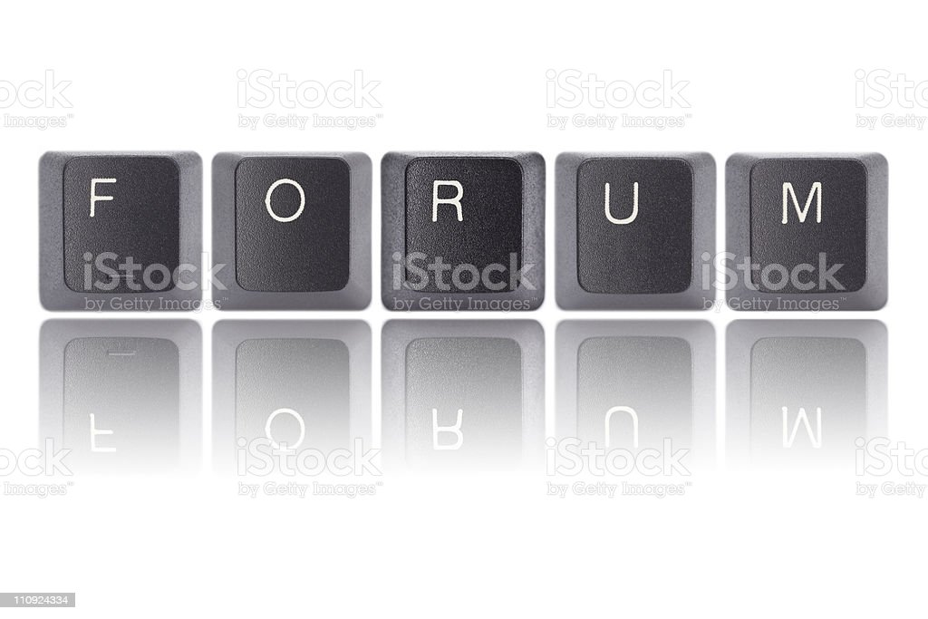 Keyboard Letters : Forum royalty-free stock photo
