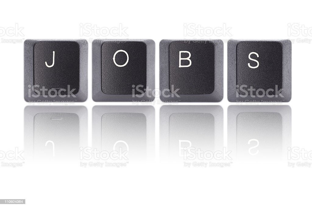 Keyboard Letters : JOBS stock photo