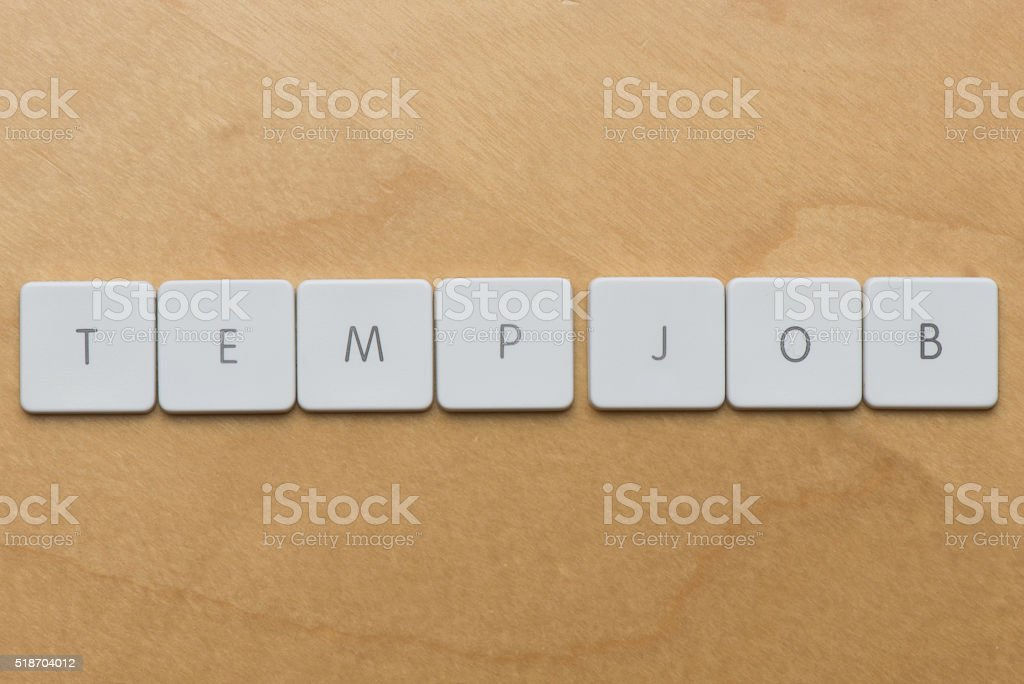 Keyboard Letters-Temp Job stock photo