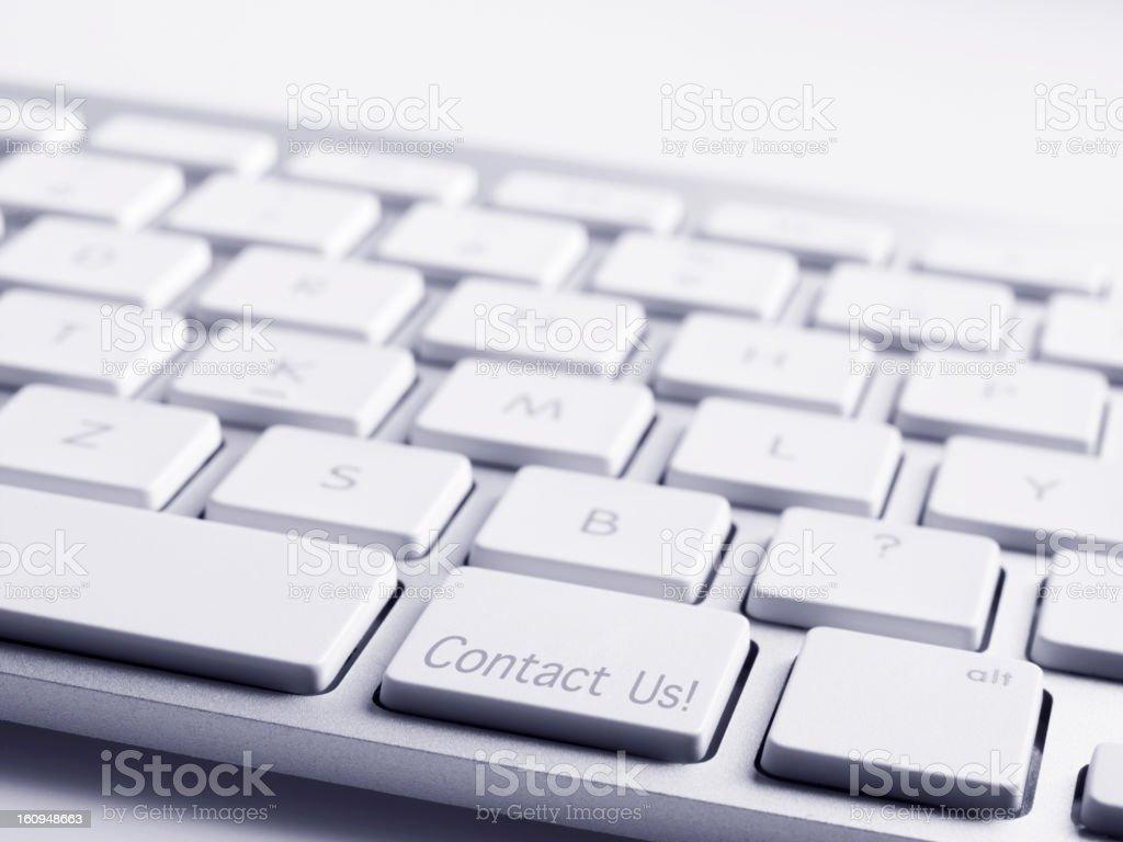 Tastatur Nachricht wenden Sie sich an uns - Lizenzfrei Ausrüstung und Geräte Stock-Foto