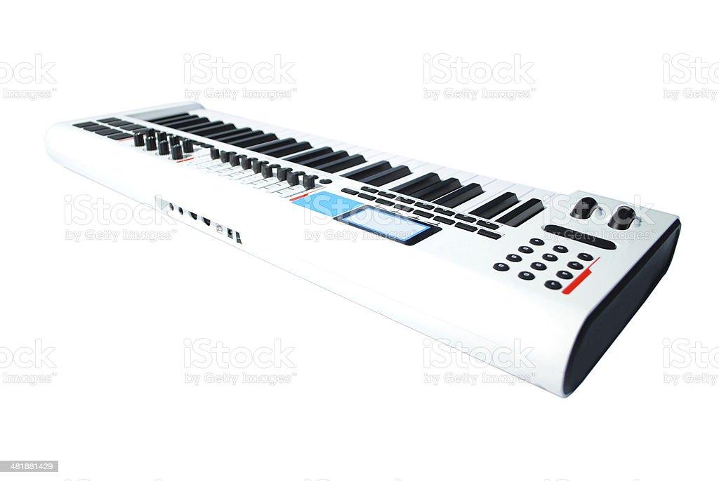 keyboard music back stock photo