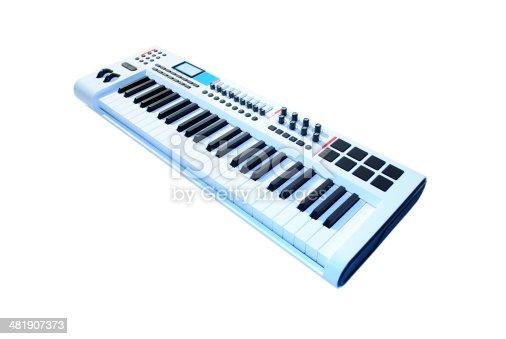 keyboard music isolated