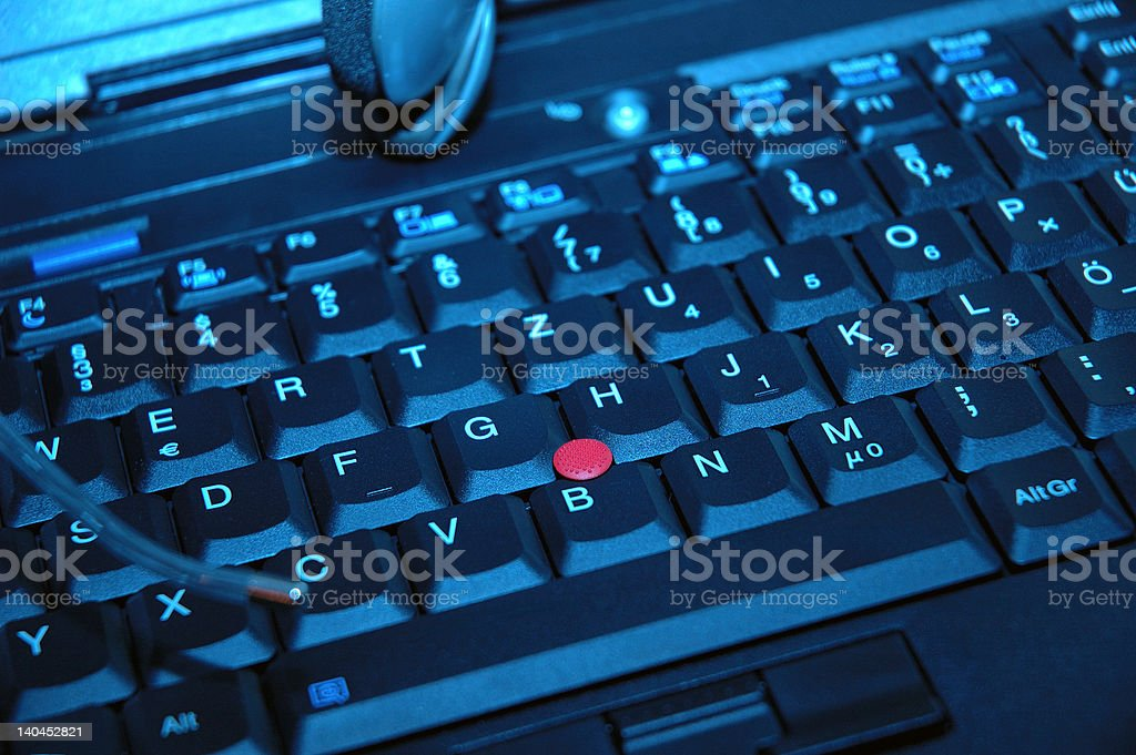 Keyboard of a laptop royalty-free stock photo