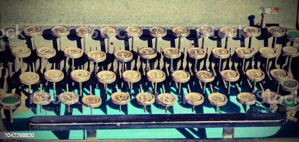 keyboard of an old typewriter