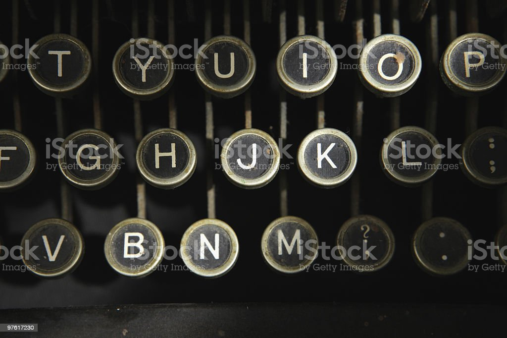 Keyboard of Antique Typewriter royaltyfri bildbanksbilder