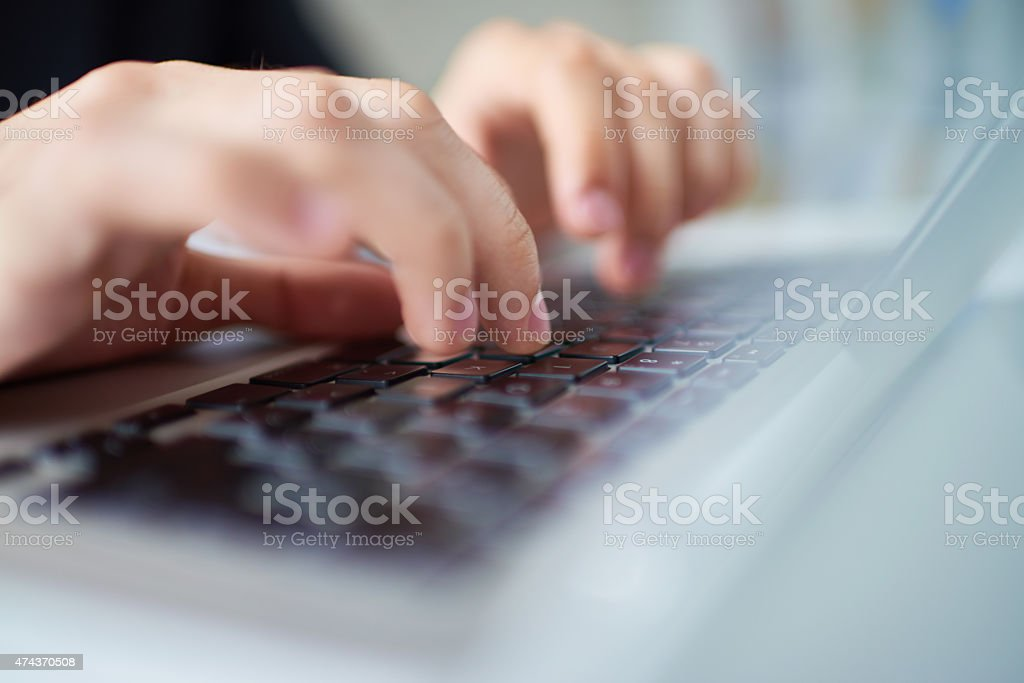Keyboard of laptop stock photo