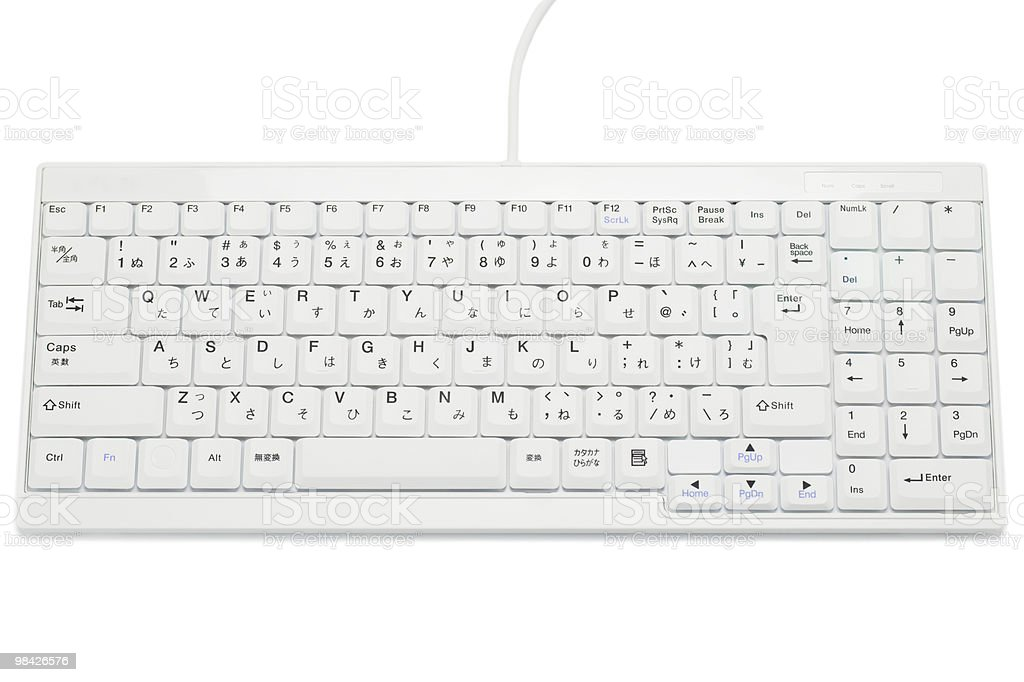 keyboard of PC royalty-free stock photo