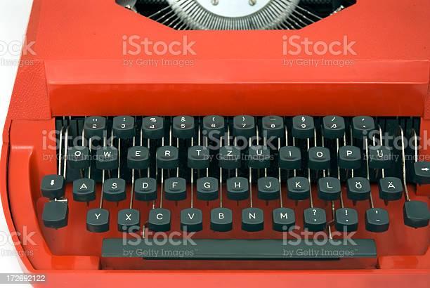 Keyboard on Retro Typewriter