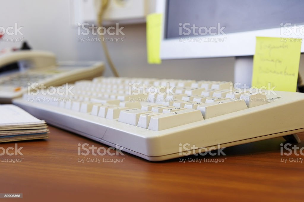 Keyboard on the desk royalty free stockfoto