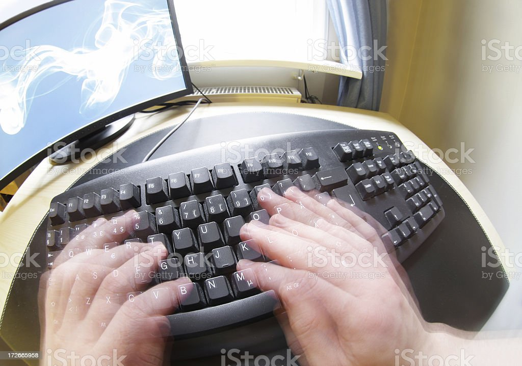 Keyboard (fisheye) royalty-free stock photo