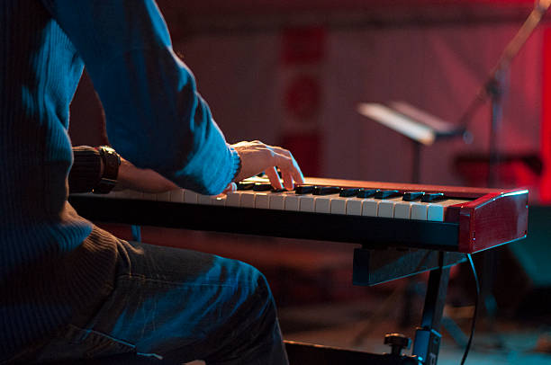 Keyboard player Detail. keyboard player stock pictures, royalty-free photos & images