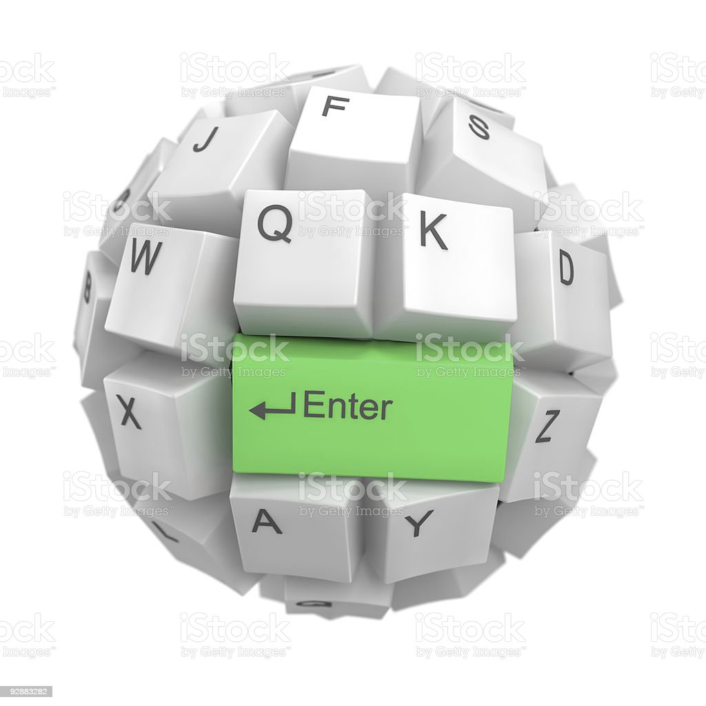 keyboard sphere royalty-free stock photo