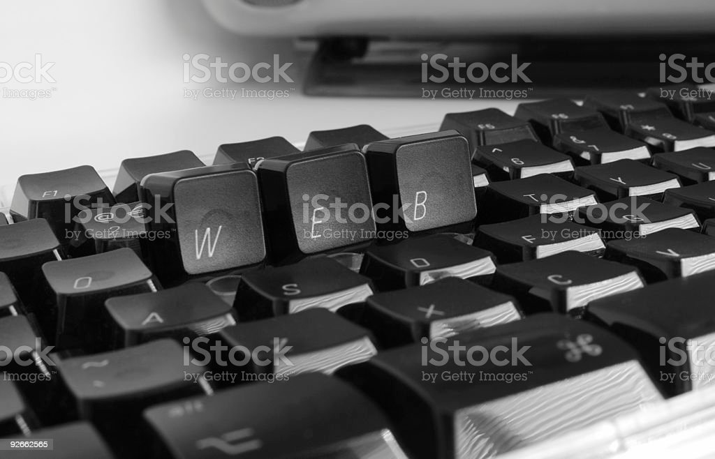 WEB Keyboard three royalty-free stock photo