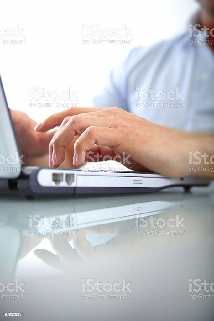 Keyboard typing royalty-free stock photo