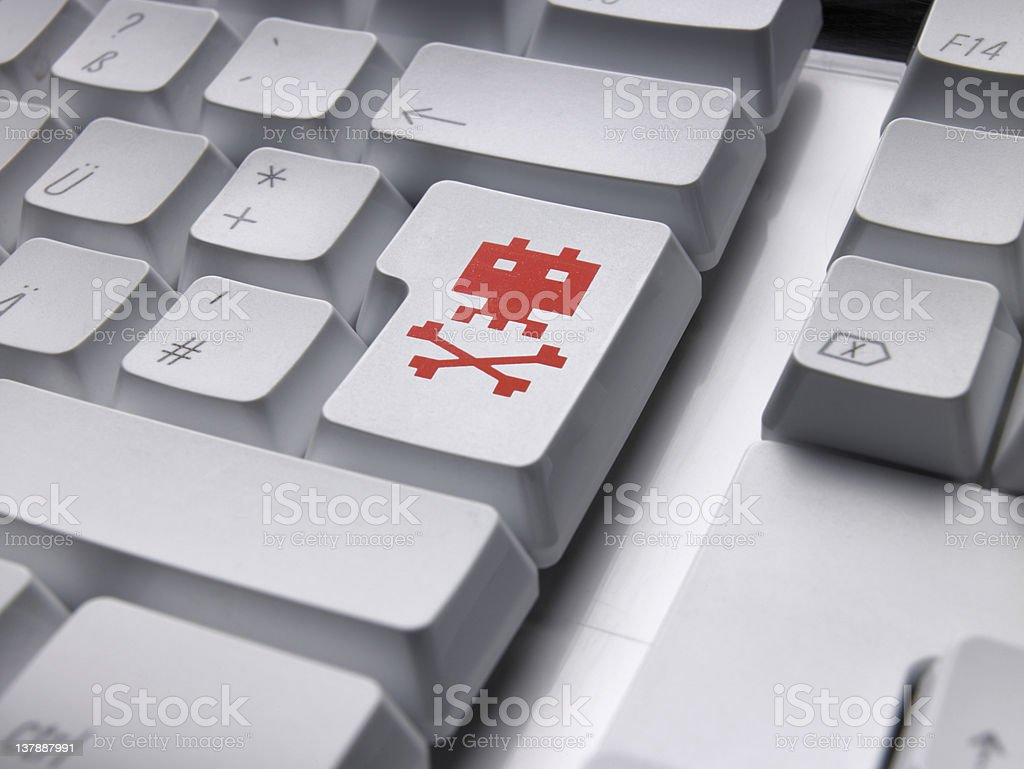 Keyboard VIRUS A royalty-free stock photo