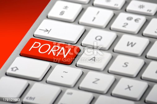 istock Keyboard with a Porn Key 179101683