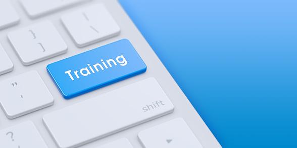 Keyboard with Blue Training key