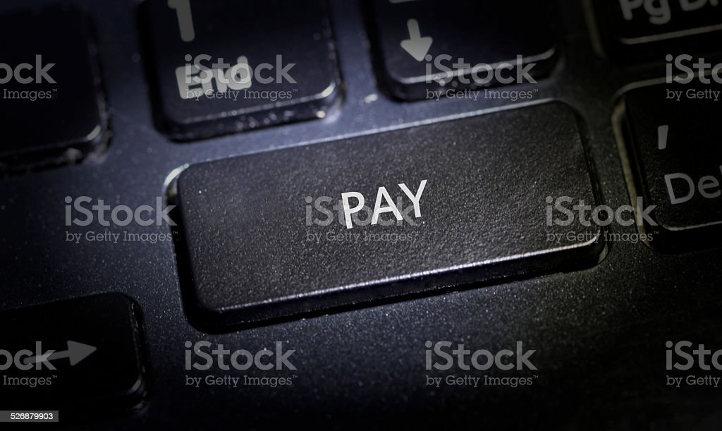 Keyboard with button pay stock photo