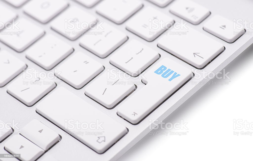 Keyboard with buy button stock photo