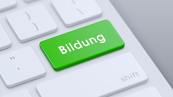 Keyboard with green Bildung key