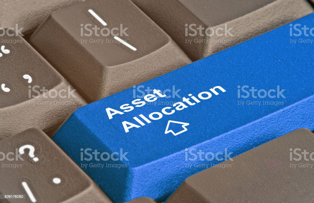 Keyboard with key for asset allocation stock photo