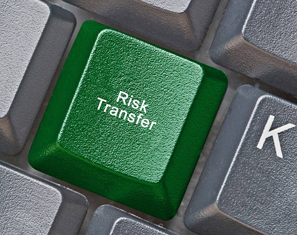 Keyboard with key for risk transfer Keyboard with key for risk transfer transfer image stock pictures, royalty-free photos & images
