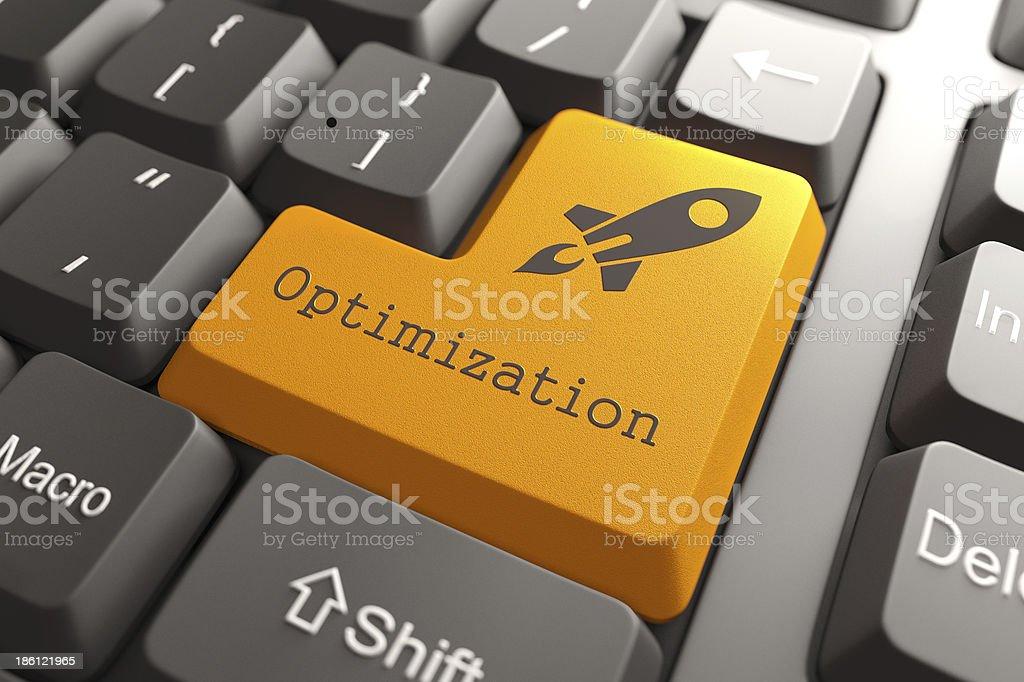 Tastatur mit Schaltfläche Optimierung. – Foto