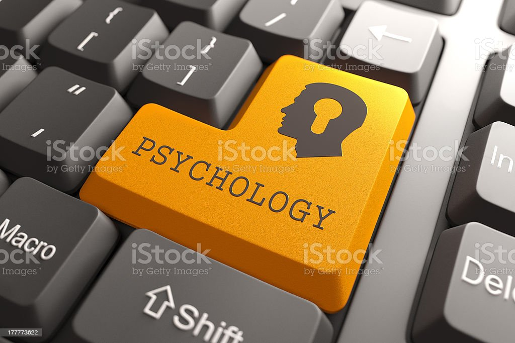 Keyboard with Psychology Button. royalty-free stock photo