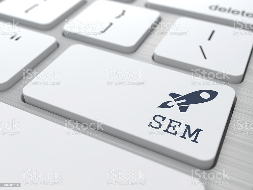 Keyboard with SEM Button. stock photo