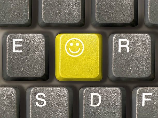 Tastatur (Nahaufnahme) mit Lächeln key – Foto
