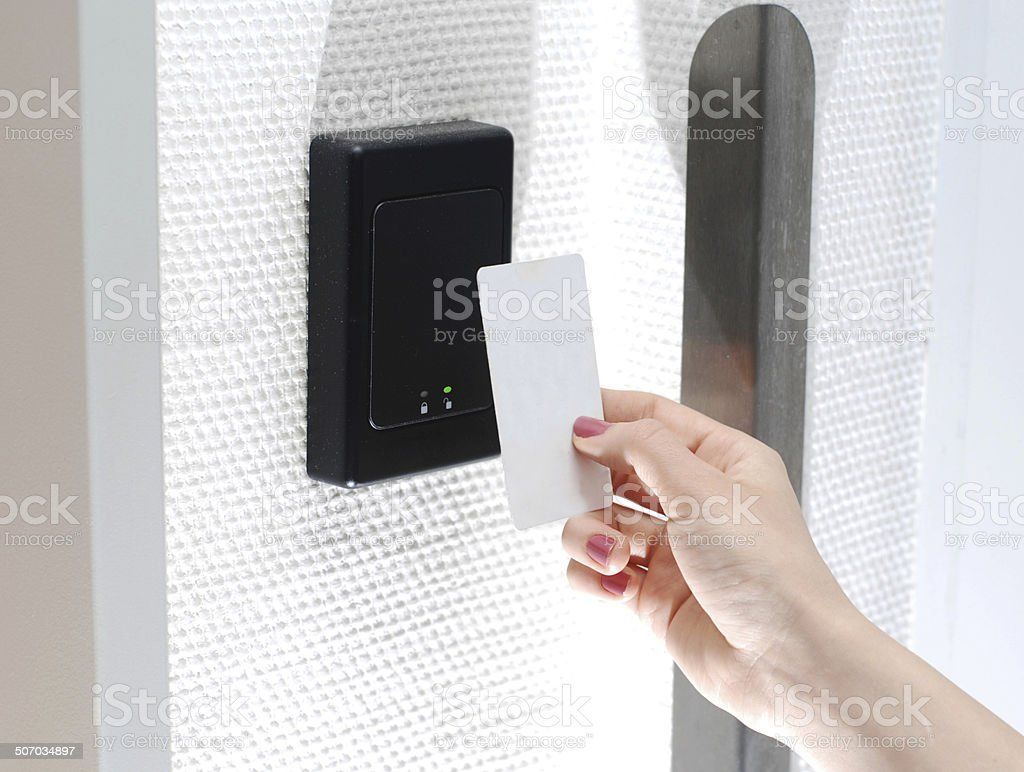 Keycard access stock photo