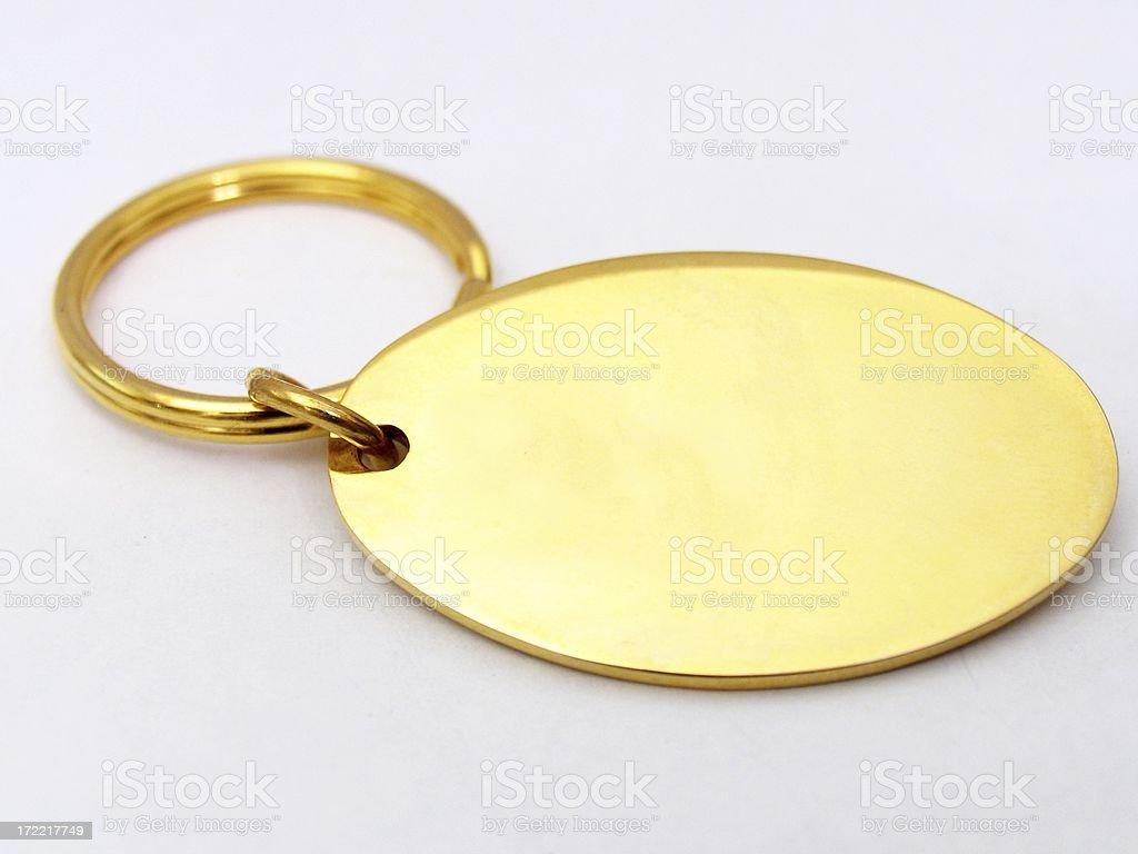 Keychain - Blank royalty-free stock photo