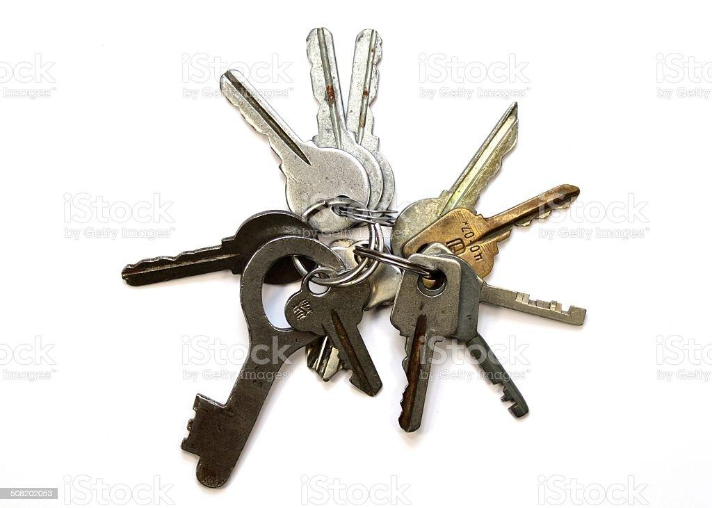 Keychain closeup on white background royalty-free stock photo