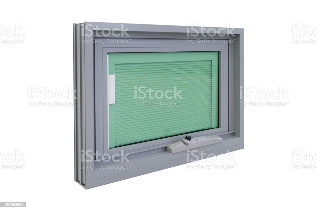 keyed chainwinder awning window stock photo