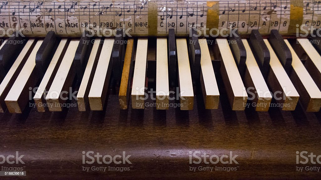 Keyed Zither Keys stock photo